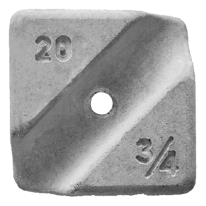 Concrete Cover Blocks 20mm With Hole