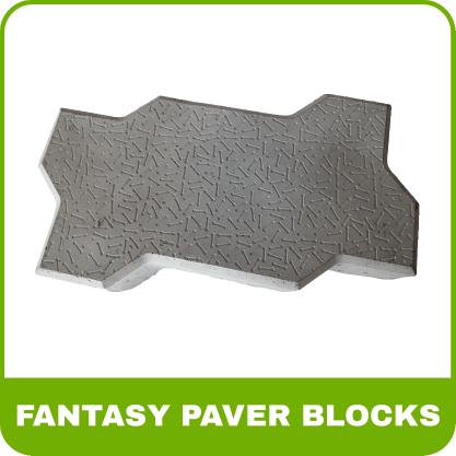 Paver Blocks Rubber Mold - Fantasy